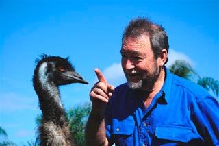 John at a local emu farm