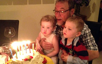 John's 67th birthday celebrations with his grandchildren November 2012