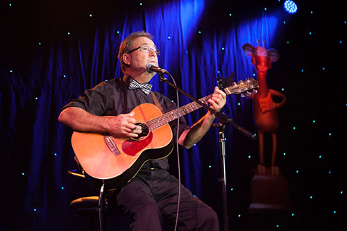 John performing at the Gold Harold Awards 2012