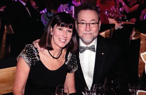 John and Meg at the 2013 Gold Harold Awards