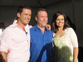 John with Karl Stefanovic and Lisa Wilkinson of the 'Today' show.