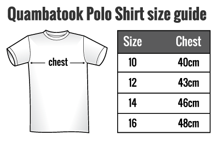 Quambatook-t-shirt-measurements