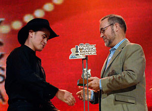 John with Amos Morris - Golden Guitar Awards 2008