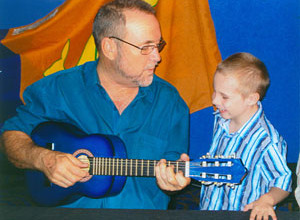John with 'No.1 Fan' Andrew Parkinson 2007