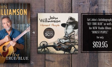 "John's Autobiography ""HEY TRUE BLUE"" as well as his NEW Studio Album ""HONEST PEOPLE""  are available now!"